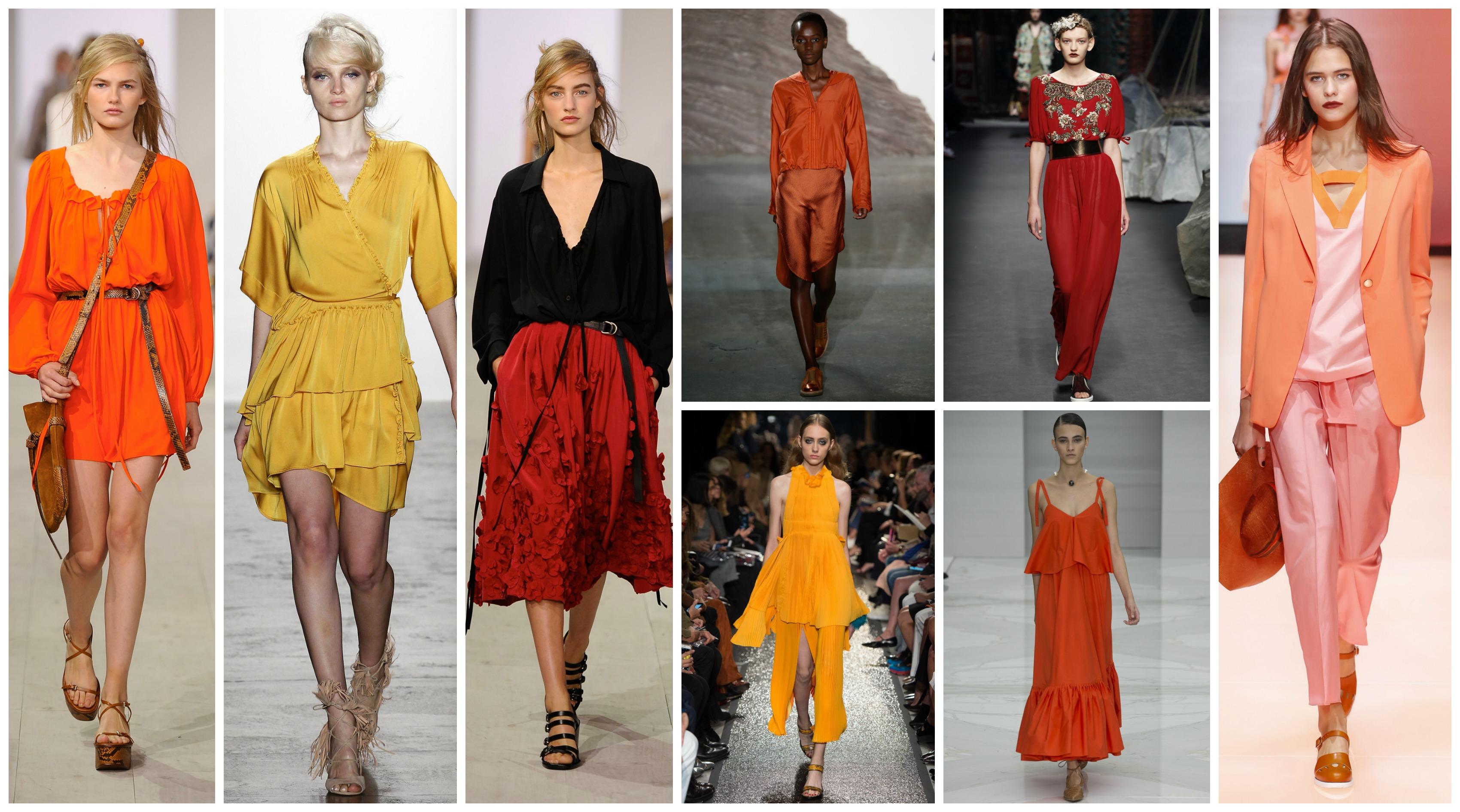 orange couleurs chaudes été 2016