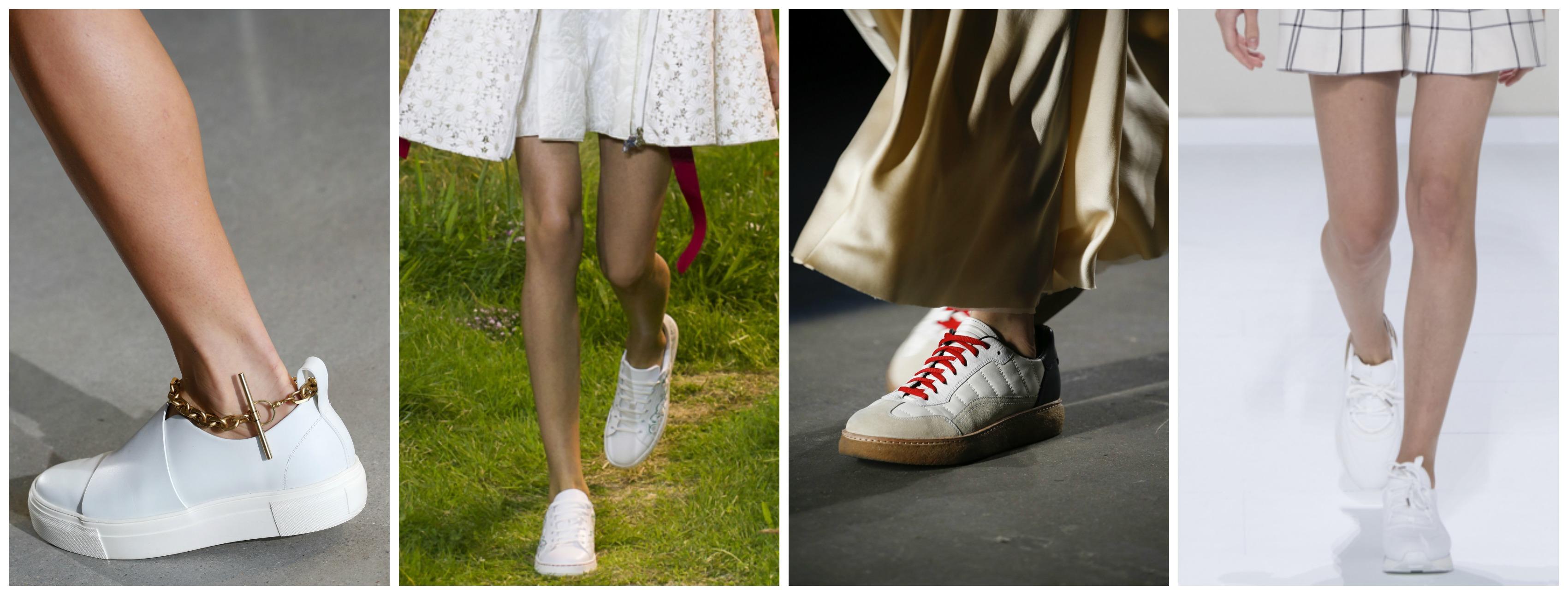 baskets blanches tendance été 2016
