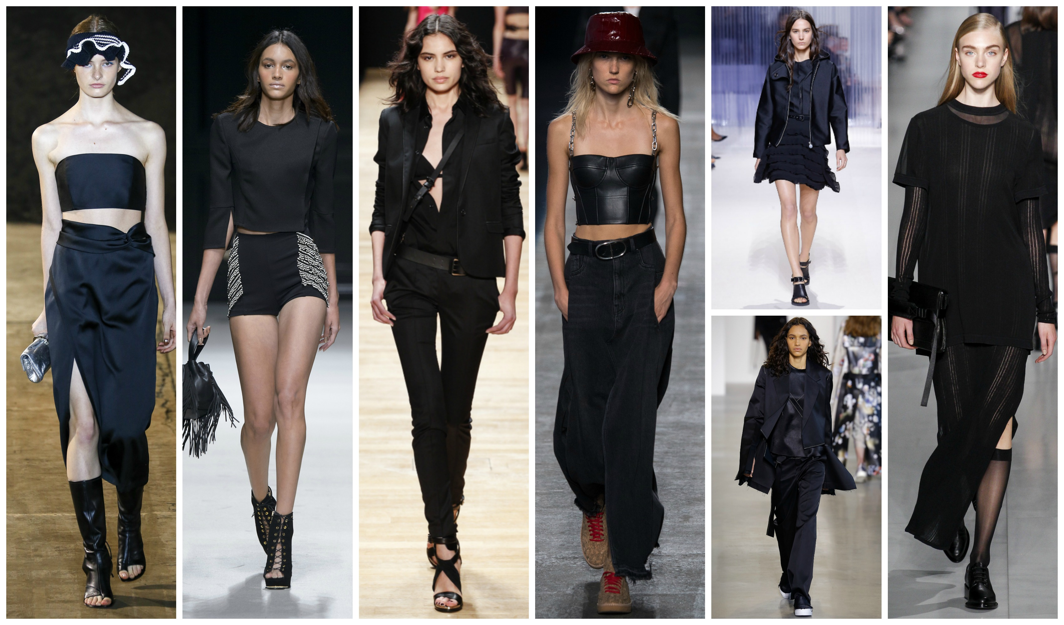 total look noir tendance été 2016