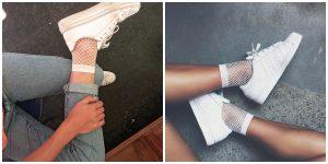Women Girls Fishnet Ankle High Socks Lady Mesh Lace Fish Net Short Socks Sanwood Women