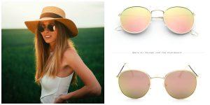 Vintage Round Sunglasses Women men female brand Metal Frames Mirror Lenses Sun Glasses For women retro Male oculos de sol