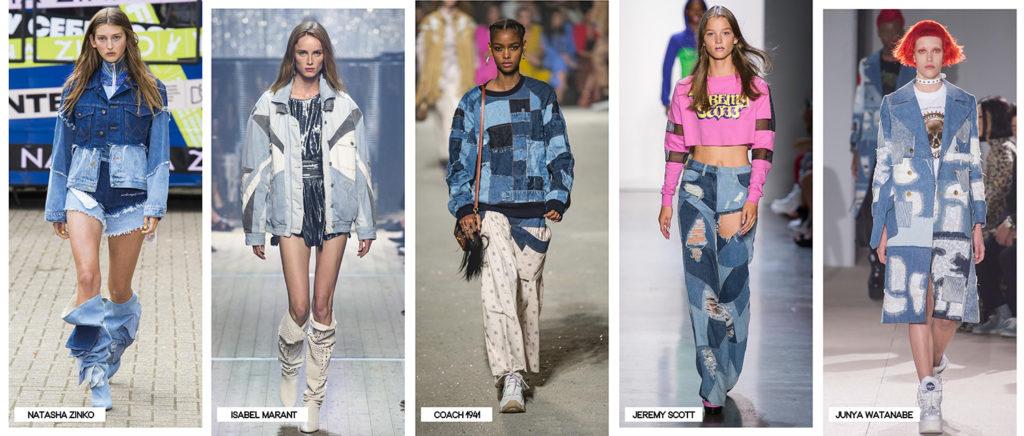 tendances mode printemps-été patchwork jeans 2019