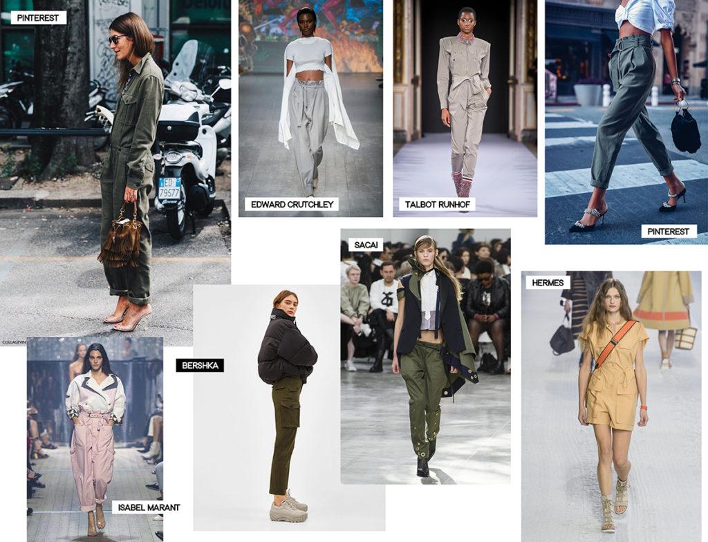 cargo pantalon combinaison combishort tendances été 2019